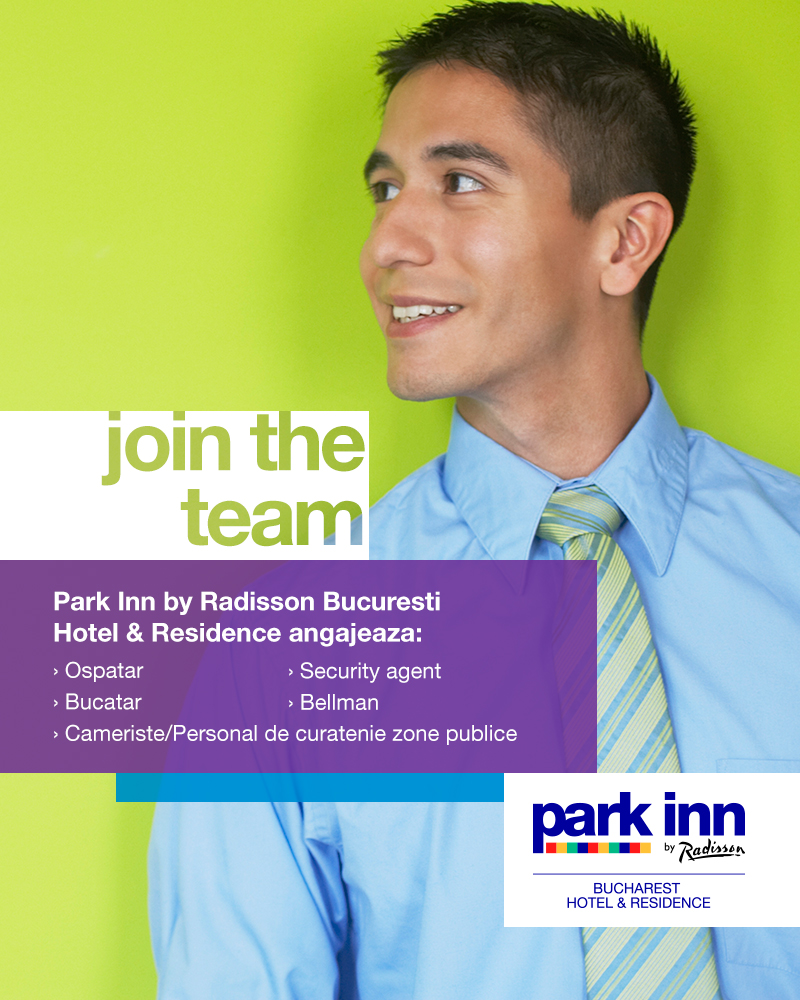 Say YES! to a new CAREER at Park Inn by Radisson Bucharest Hotel & Residence, a 4 star hotel, part of Rezidor Hotel Group!