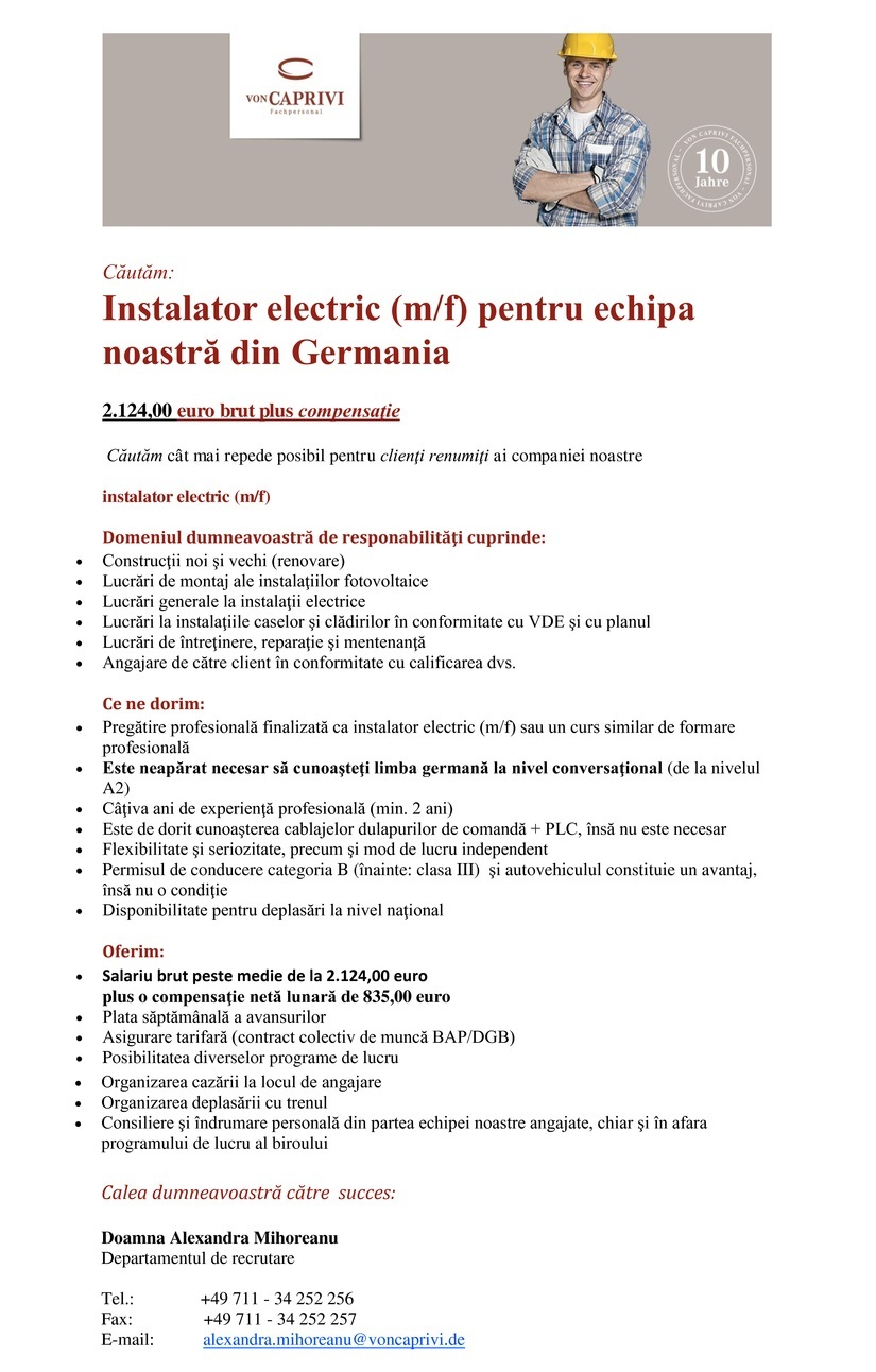 Electrician (m/f)