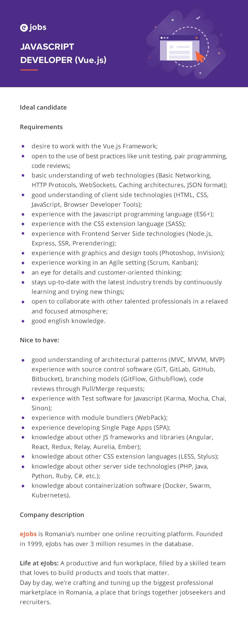 Javascript Developer (Vue.js)