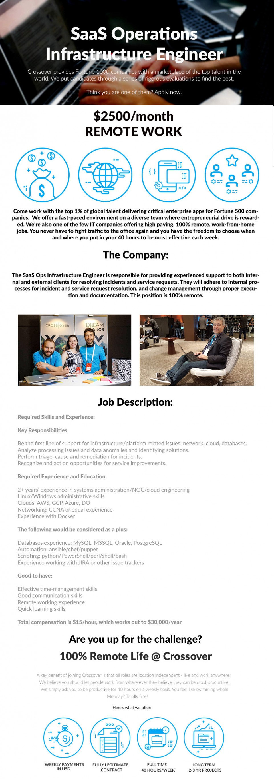 SaaS Infrastructure Engineer - WORK FROM HOME