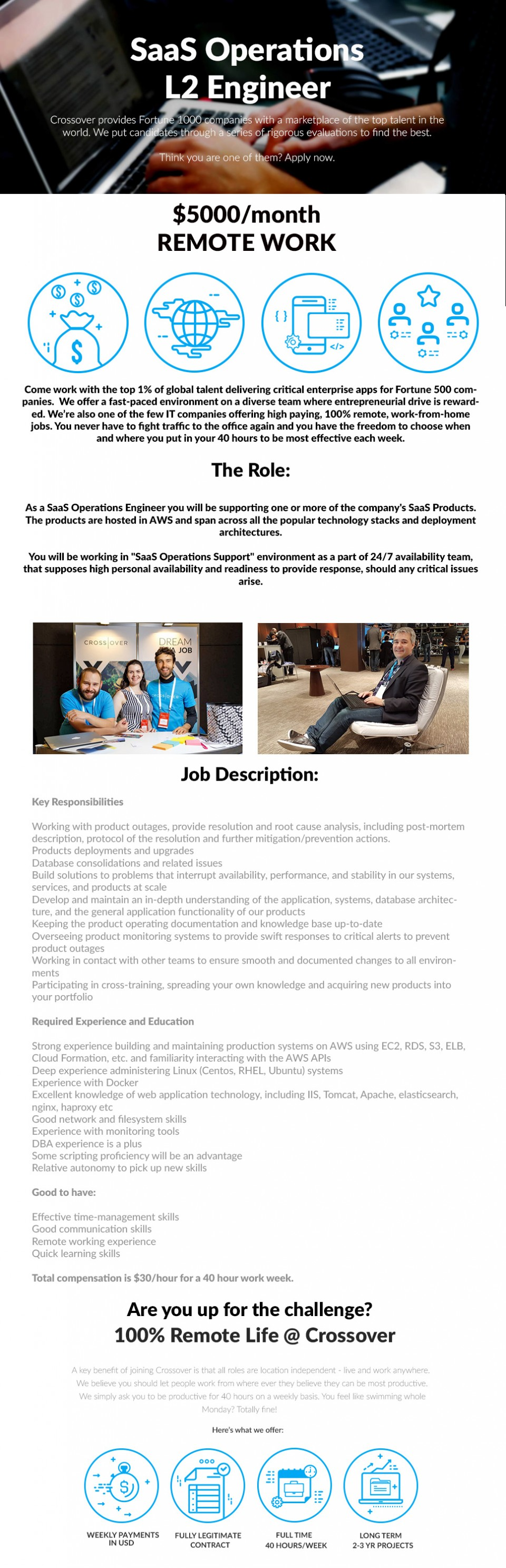 SaaS Operations L2 Engineer - WORK FROM HOME