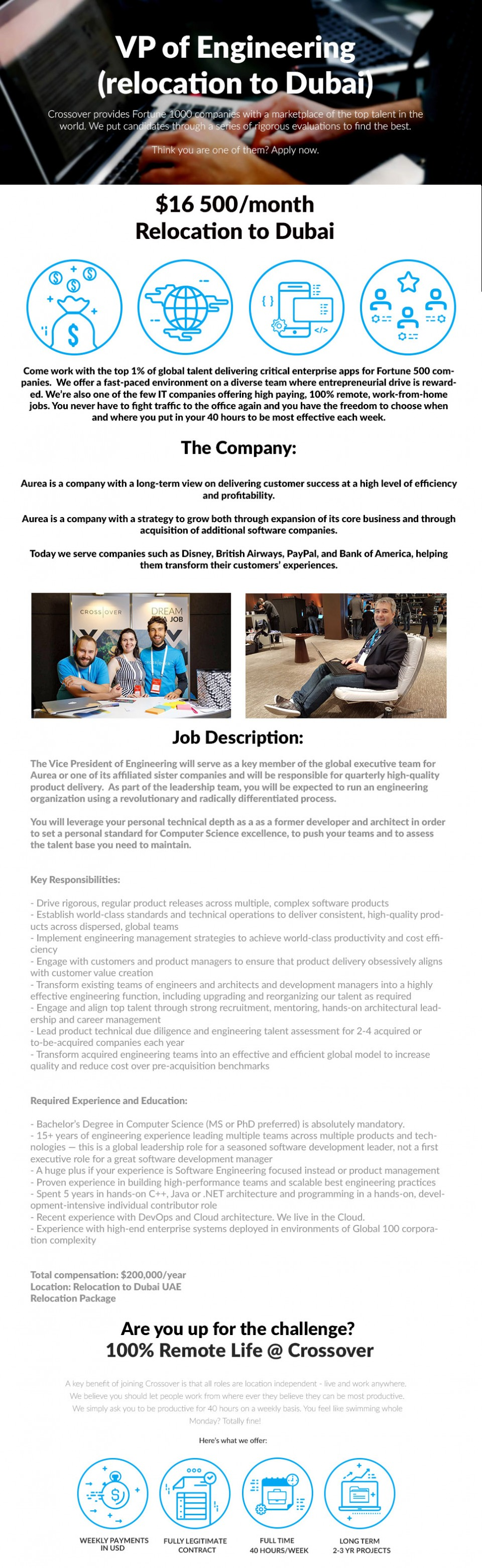 Vice President of Engineering (relocation to Dubai) -