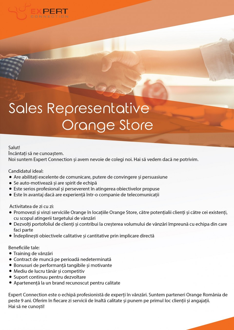 Sales Representative – Orange Store