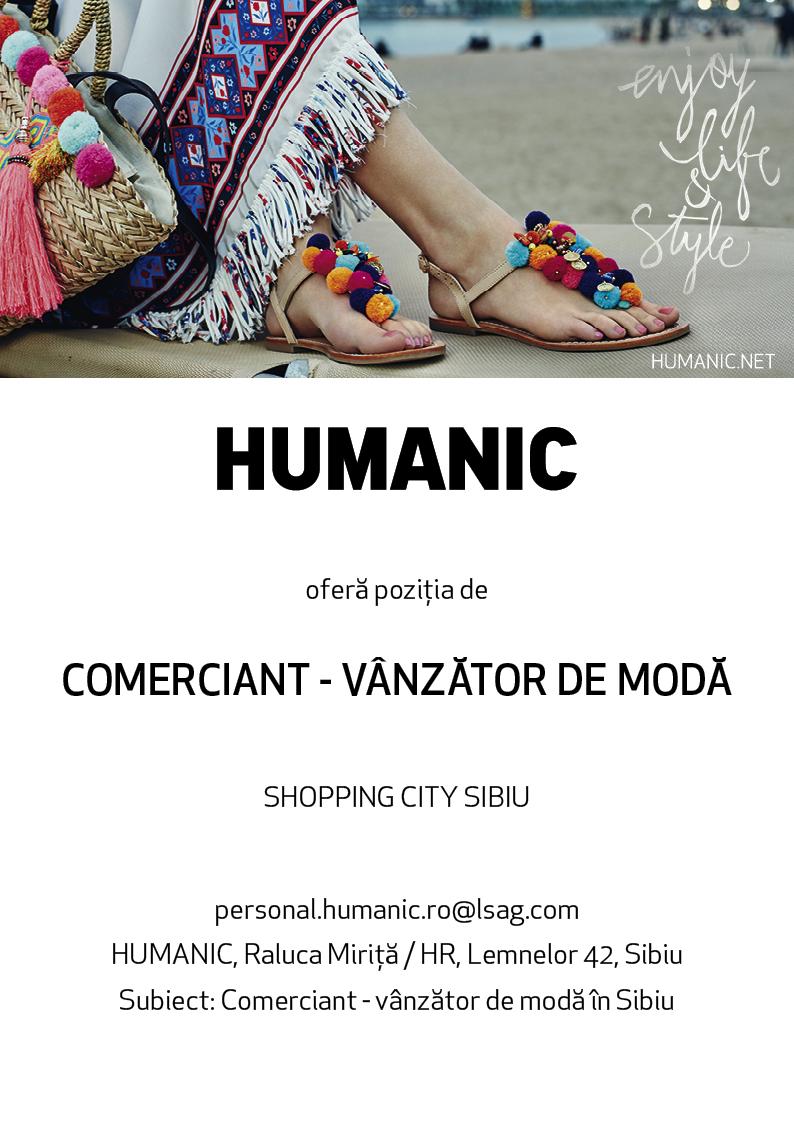 COMERCIANT - VÂNZĂTOR DE MODĂ