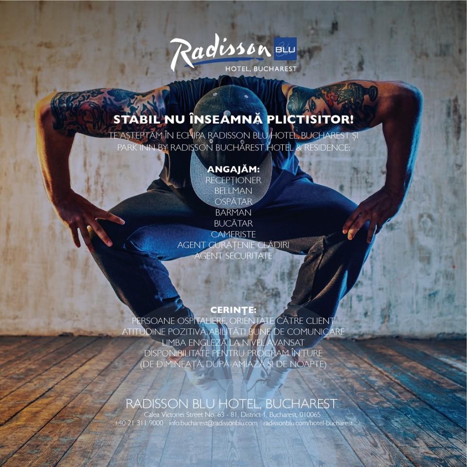Te asteptam in echipa Radisson!