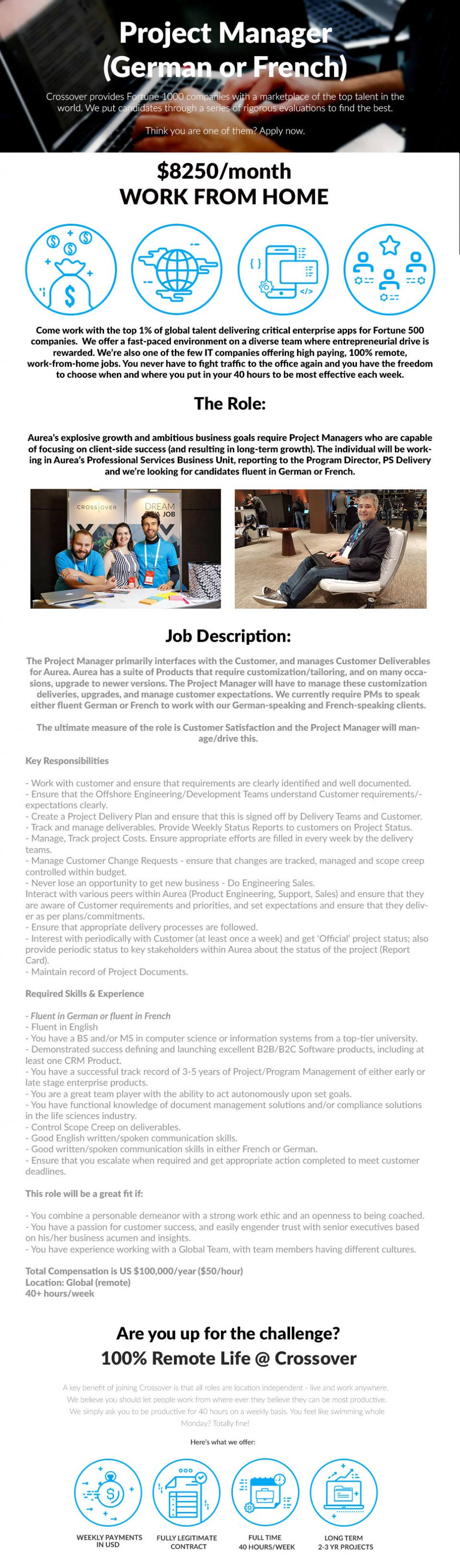 Project Manager (German or French)
