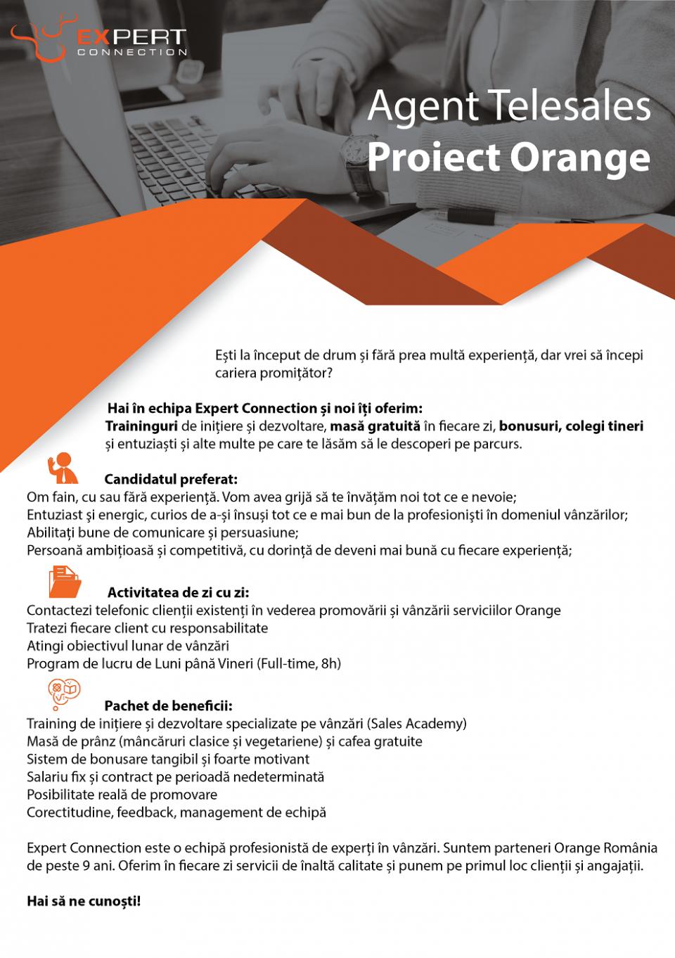 Agent Telesales – Proiect Orange