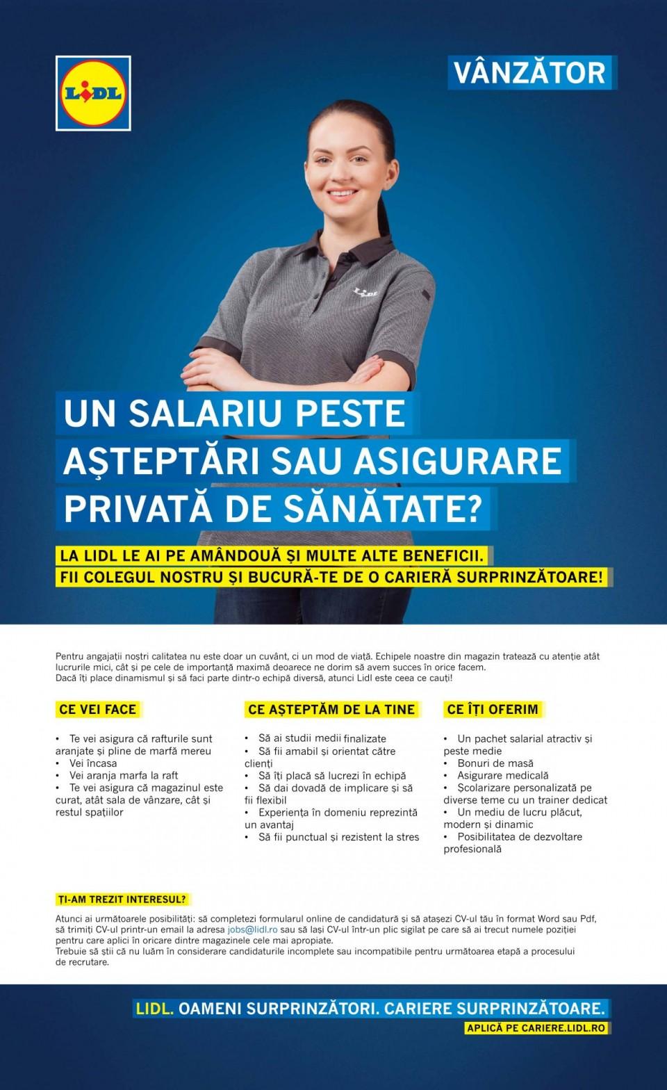 Vânzător București Iuliu Maniu Full-Time (f/m)