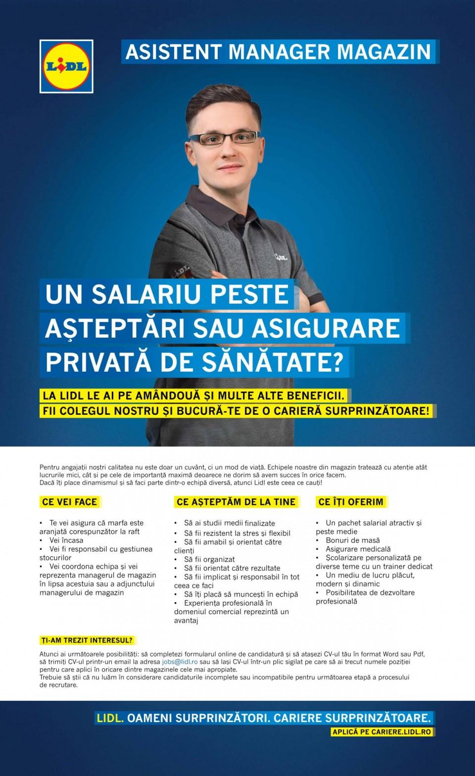 Asistent Manager Magazin - Prelungirea Ghencea 2 (f/m)