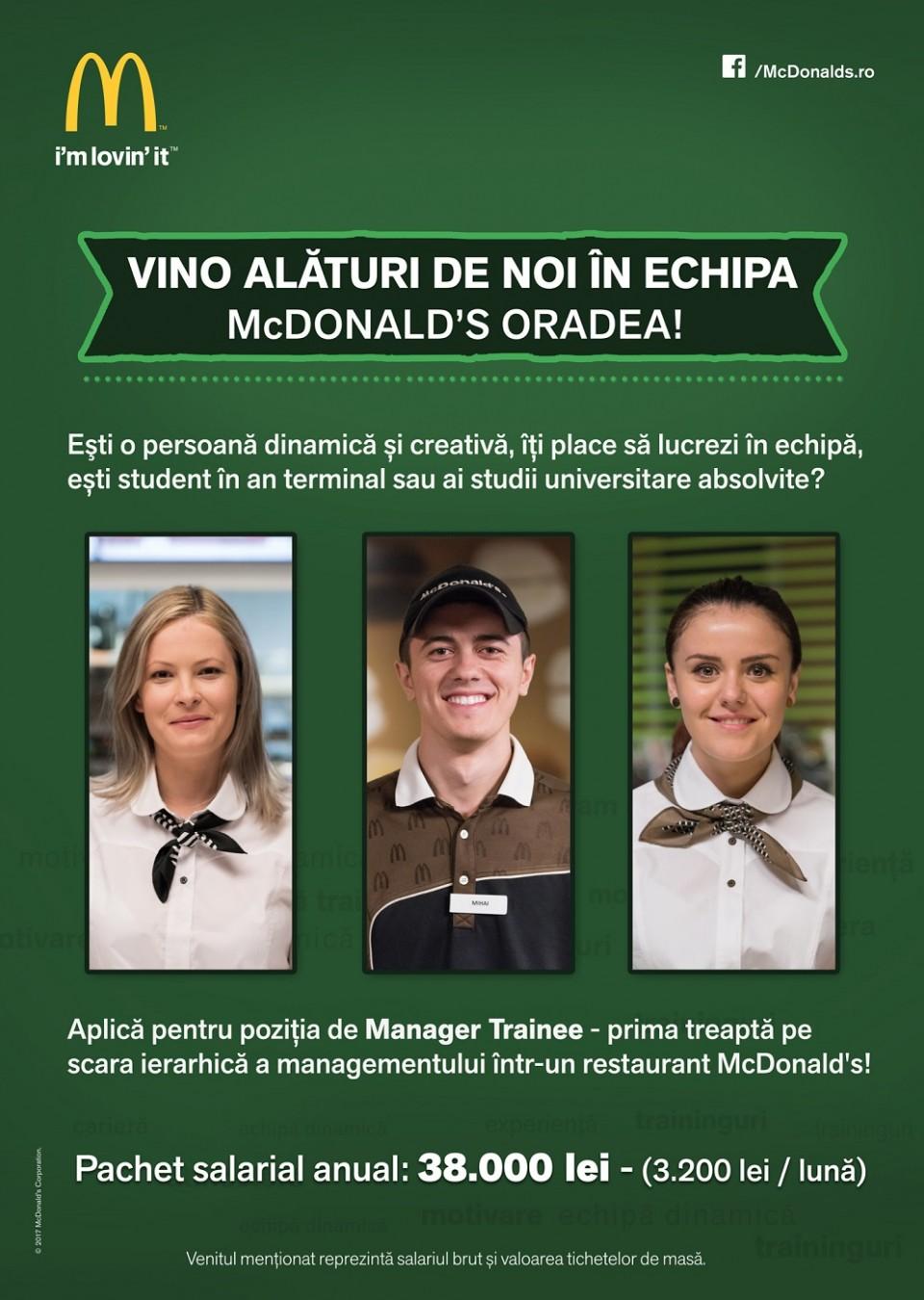 Manager Trainee - McDonald's Oradea